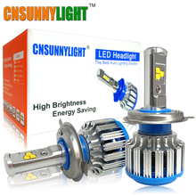 CNSUNNYLIGHT H4 H13 Hi/lo Car LED Headlight High Power HB2 9003 9007/HB5 9004/HB1 40W X2 White 6000K Bulbs Replace Bi Xenon Lamp