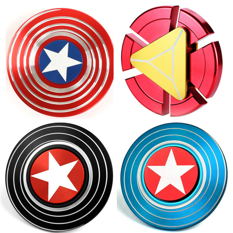 Captain America Iron Man Fidget Cheap Figet Spinners Hand Spiner Top Metal Handspinner Gold Fidget Spinner Toys Kids