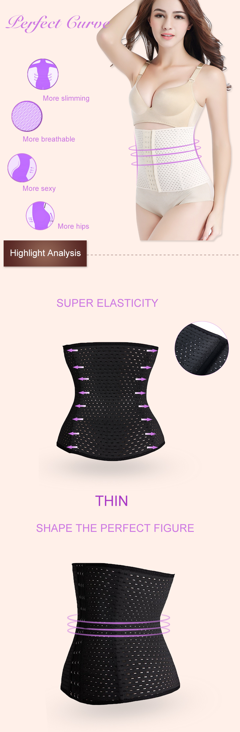 Waist trainer hot shapers waist trainer corset Slimming Belt Shaper body shaper slimming modeling strap Belt Slimming Corset 6