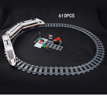Hot radio remote control High speed passenger train building block model figures Railway track bricks 60051 rc toys collection(China)