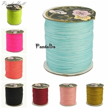0.8mm; 120m/roll Nylon Thread for Custom Woven Jewelry Necklace Making DIY Beadwork Design Color Cord(China)