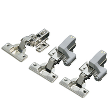 FGHGF Stainless Steel Invisible door Cabinet Hinge Damping Hydraulic Buffer Spring Kitchen Door Multi-sizes(China)