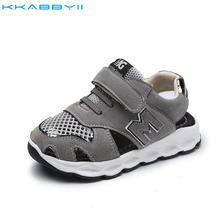 KKABBYII Size 21-30 Children Shoes Baby Boys Sandals New Summer Net Breathable Fashion Girls Sandals Kids Sport Casual Shoes