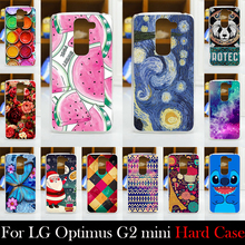 For LG Optimus G2 mini D618 CASE Hard Plastic Mobile Phone Cover Case DIY Color Paitn Cellphone Bag Shell  Shipping Free