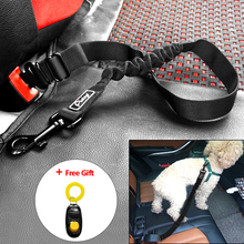 Adjustable Pet Dog Cat Car Seat Belt Safety Leads Vehicle Seatbelt Harness Nylon Car Restraint with Elastic Bungee Leash(China)