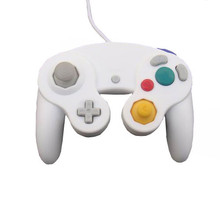 White Wired Shock Game Controller for Nintendo GameCube NGC Wii Video Game(China)