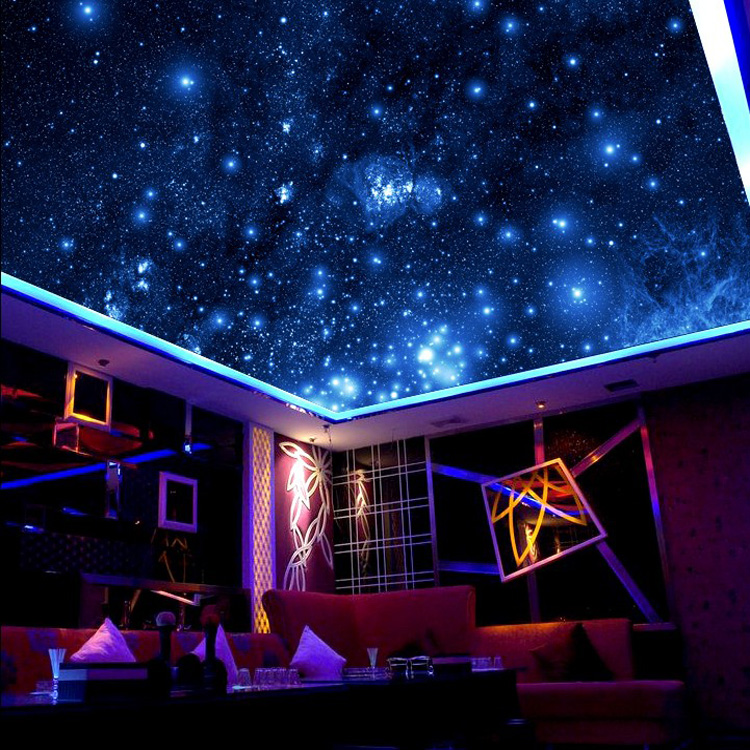 Modern 3D Blue Sky Outer Planet New Arrivals Night Star Wall Covering Wall Paper  Background Wall Living Room Bedroom Wallpaper<br>