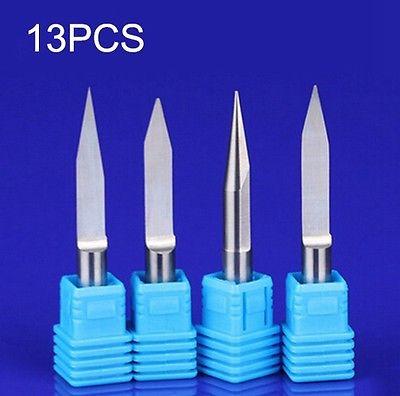 13PCS 6mm Flat bottom knife CNC Machine Milling Cutter Bits PVC Acrylic wood cutter Engraving Machine Tool<br><br>Aliexpress