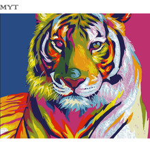 Tiger Oil Painting By Numbers Kits DIY Coloring Painting By Numbers Drawing Paint On Canvas For Home Decor Wall Art DIY402
