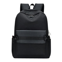 Unisex chargeable Hole Backpacks School travel Canvas Shoulder school bag Tote Backpack Women Men Mochila escolar(China)