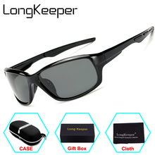 LongKeeper Mens Sunglasses Polarized Sunglasses men Brand Sports boating Driving Glasses Goggles Reduce Glare With Original Box