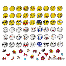 3pcs/lot Emoji Korea Cartoon Face Pattern DIY Children Nail Art Water Transfer Nail Stickers Decorations Tips Decals Nail Tools