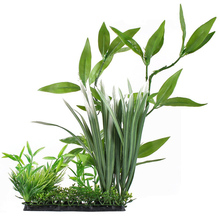 Aquarium Ornament Fish Tank Plastic Underwater Plant Green Grass Leaves For Home Office Saltwater Freshwater Tropical