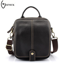 Buy ZZNICK 2017 New Hot Sale Genuine Leather Men Bag Fashion Men Messenger Bag Satchels Small Business Crossbody Shoulder Bags for $14.68 in AliExpress store