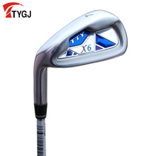 Brand TTYGJ. Single 7 IRON Left hand Regular Flex for beginner. 7iron golf club steel or carbon shaft. golf club #7 steel golf 7(China)