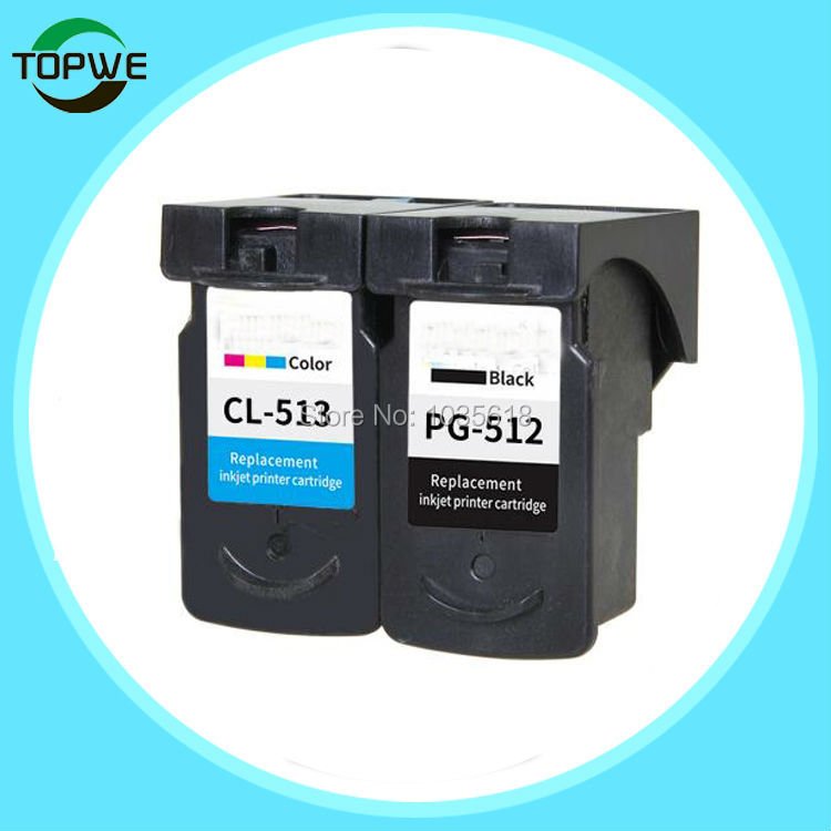 1set PG 512 CL 513 ink cartridge compatible for Canon PG-512 CL-513 used for Canon MP240 MP250 MP270 MP230 MP480 MX350 IP2700<br>