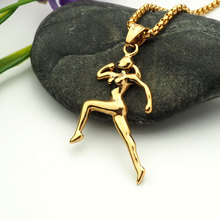 Hip Hop stainless sport women running Pendants Necklaces Men Women hiphop necklace Jewelry Gifts