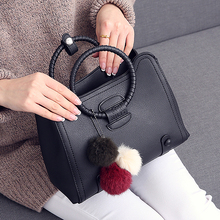 Women Black Leather Tote Handbag Ladies Party Shoulder Bags For Girls Fashion Top Handle Women Crossbody Messenger Cross Bag(China)