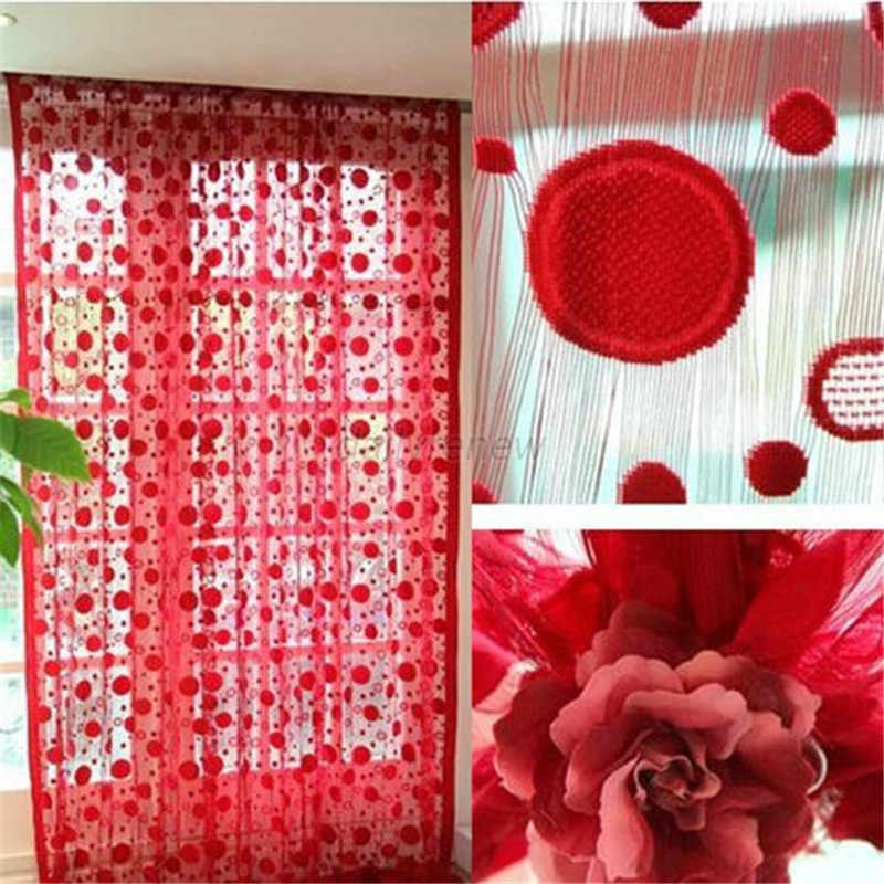 New Circle Tassel String Door Curtain Window Room Divider Curtain Valance Drapes AA