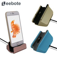 For iPhone 7 Charge Dock Leebote Sync Data USB Charging Dock with 1m Cable Desktop Stand Charger for iPhone 6 6S Plus 5S 5S SE