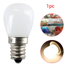 1PC Chandelier 220V / 110V Refrigerator 2W E14 / E12 Freezer Light Appliance Lamp Screw Bulb COB Glass Dimmable LED Light(China)