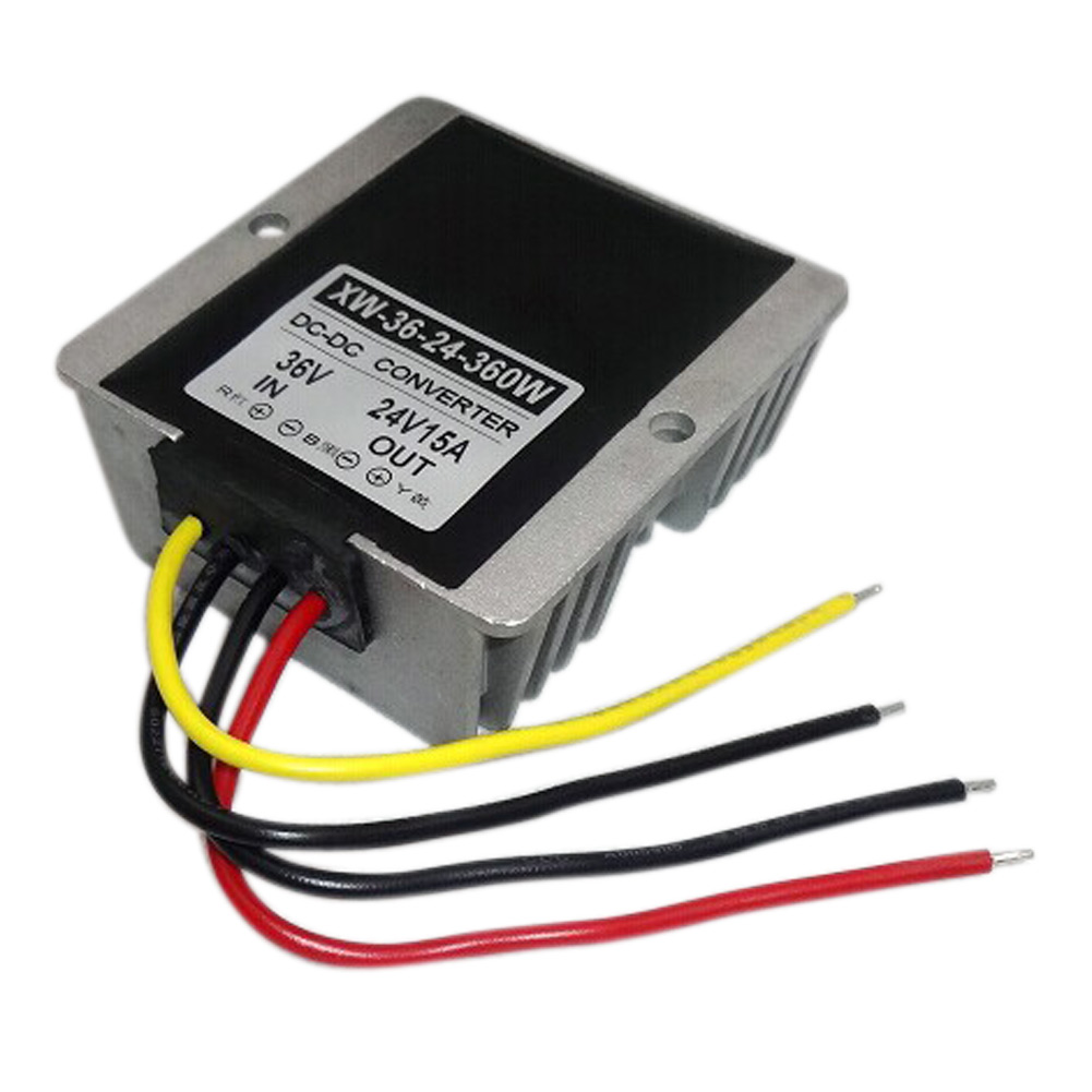 New Arrival DC Step Down Power Adapter 36V(30-60V) To 24V 15A 360W Waterproof Module Regulator Car Supply Converter<br><br>Aliexpress
