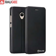 "Raugee Stand Case for 5.2"" Meizu M5 Mini Protective Back Cover Luxury PU Leather Flip Phone Case for Meizu M5 Mini Anti-knock(China)"