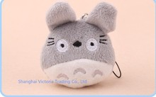 100PCS  Mini 3*4CM Japan TOTORO Plush Stuffed TOY DOLL  Phone Charm Strap Lanyard Pendant ; BAG Key Chain