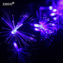ZINUO 220V Christmas LED String 10M 100 Leds Dandelion Optic Fiber Fairy String Light For Wedding Garden Party Decoration(China)