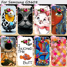 Hard Plastic&Soft TPU Phone Cover Fit For Samsung Galaxy Core Prime G360 G3606 G3608 G3609 Cases Wholesale and Retail Phone Part
