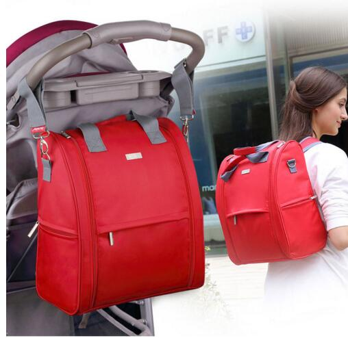(insular) Large capacity nappy bags mummy backpacks fashion baby diaper bag stroller bag mommy maternity bag baby care<br>