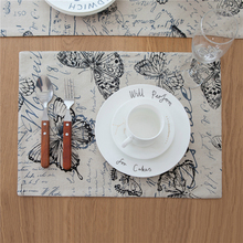 Butterflies Dining Table Placemat Bowl Coasters Drinks Pads Wedding Decoration Heat Insulation Tableware Party Supplies