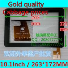 "10.1""for Sanei N10 AMPE A10 quad Core tablet pc TPC0323 ver1.0 touch screen Digitizer 263*172mm touch Pane black COLOR"