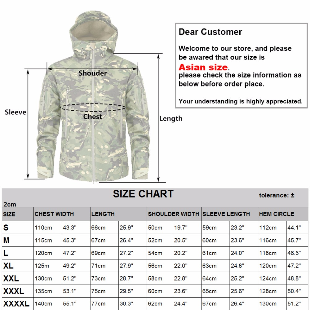 Mege Shark Skin Soft Shell Military Tactical Jacket Men Waterproof Army Fleece Clothing Multicam Camouflage Windbreakers 4XL 6