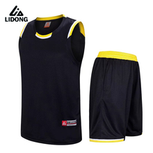 2017 New Men Cheap Basketball Jerseys Sets High Quality Blank Sports Running Clothing Adult Short Shirts Uniforms Suits(China)