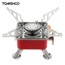 TOMSHOO Outdoor Camping Gas Stove 2800W Portable Backpacking Butane Burner Folding Gas Stove Furnace Picnic Cooking Gas Stove