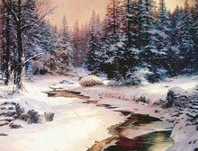 Thomas Kinkade Winter's End One Direction Poster Art Modern Bedroom Pictures On The Wall HD Print Paintings On Canvas Poster