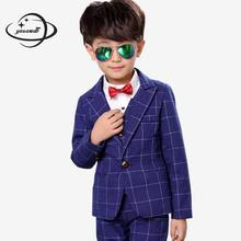 YAUAMDB kid blazers 2017 spring autumn boys 3-10Y suits cotton children clothes casual pocket slim brand clothing Y100(China)
