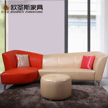 New model l shaped modern italy genuine real leather sectional latest corner furniture living room sex sofa set 658(China)