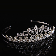 Wedding Bridal Fashion Hairwear Crystal Crown Tiaras Queen Prom Rhinestone Trendy Tiara Headband Wedding Crown Hair Accessories