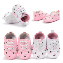 ROMIRUS Baby Shoes Newborn Infant Toddler First Walkers Crib Bebe Kids Floral Girls Princess Classic Sweet Soft Bottom Sneakers