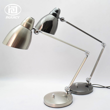 American Style Long Arm Folding LED Table Lights Hotel Computer Bedside Reading Eye Protection Rotary Switch Metal Desk Lamp(China)