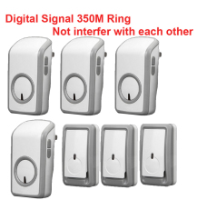best bell kits w/ 3 emitters+4 receiver wireless doorbell Waterproof 380 Meter door chime door ring digital signal ring