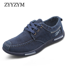 Buy ZYYZYM Canvas Men Shoes Denim Lace-Up Plimsolls Breathable Male Spring Autumn Casual Shoes for $15.96 in AliExpress store