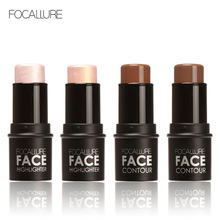 4 color Face Makeup Highlighter Stick Shimmer Highlighting Powder Creamy Texture Silver Shimmer Light Brand Focallure Bling