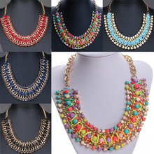 2016 New Fashion Bohemia Knitting Necklace Choker Collar Maxi Necklace Fine Jewerly For Women Statement Necklace Valentine's Day