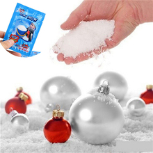 4Pack Fake Magic Instant Snow Fluffy Super Absorbant Decoration Wedding Christmas White Snow for Christmas(China)