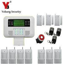 YobangSecurity LCD keyboard gsm wireless home security alarm system voice prompt 433mhz intelligent gsm pstn alarm system(China)
