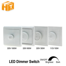LED Dimmer Switch 220V 300W /600W /1000W 110V 150W Brightness Dimmers For adjustable LED lights(China)