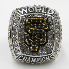 Man Ring Jewelry High Quality 2012 San Francisco Giants Major League Baseball Replica Championship Ring with Wooden Boxes